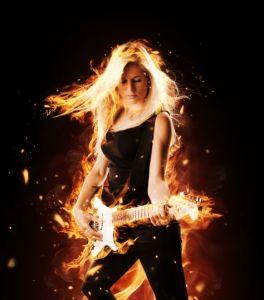 HOT chick mit Gitarre